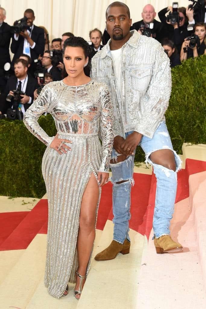 Kim Kardashian et Kanye West en Balmain