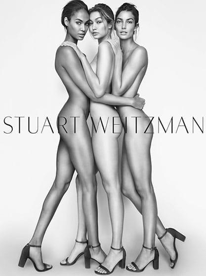 Campagne publicitaire Stuart Weitzman 2016.