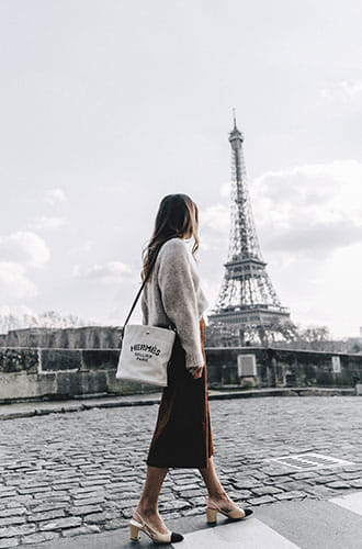 Le sac vintage d'Hermès par la blogeuse Sara Escudero de Collagevintage.com .