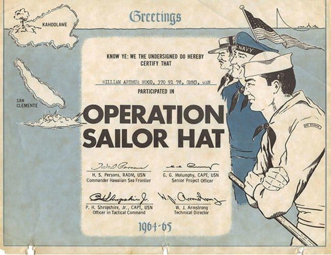 La casquette de marin dans les années 60.