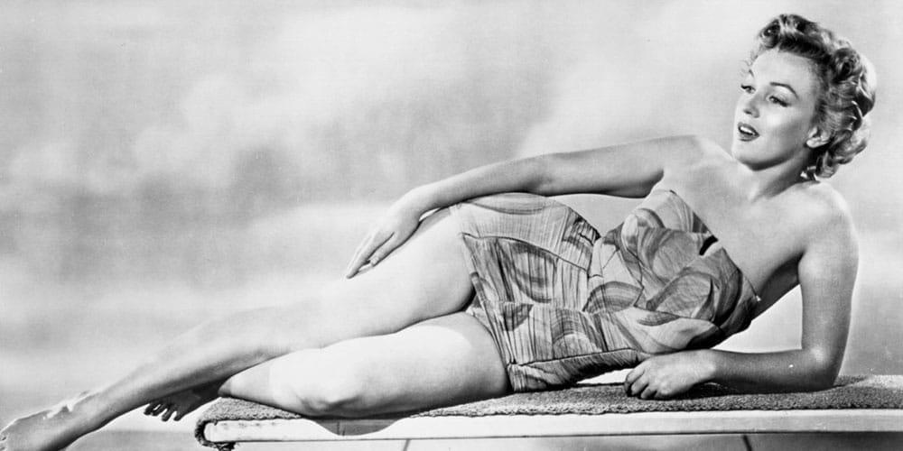 Marilyn Monroe en maillot de bain.
