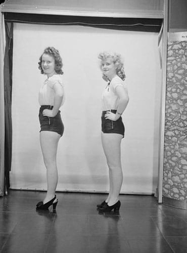Shorts en 1945.