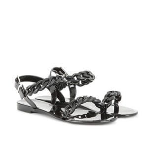 Sandales plates en pvc, Givenchy.