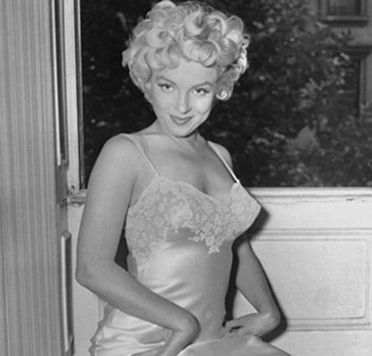 Marilyn Monroe, sexy en nuisette.