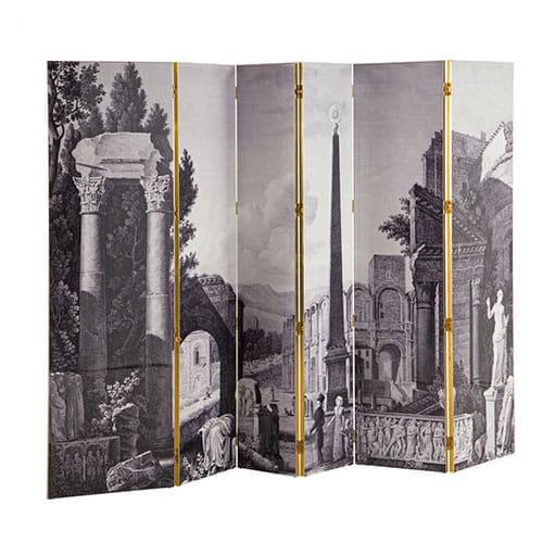 """Grand paravent """"Maison Lacroix"""" face """"Arles"""" pour Roche Bobois."""