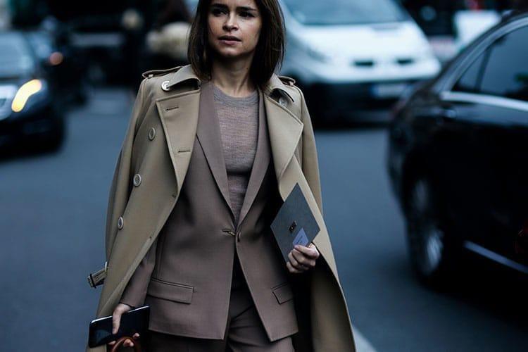 Miroslava Duma à la Fashion Week Automne-Hiver 2016/2017.
