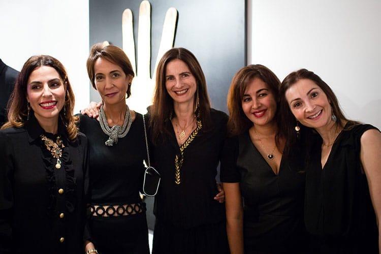 La créatrice de caftans Lamia Lakhasassi, Meriem Tarik d'Attijari Wafabank, Johanna Berdugo de Damanjot Yoga Center, Zhor Kabbaj de Soft Group et Myriem Bouazzaoui de BMCE Bank