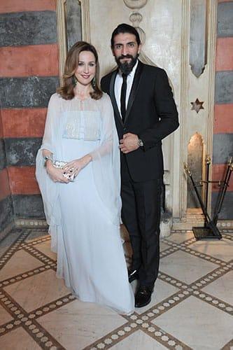 La comédienne Elsa Zylberstein, en compagnie de l'acteur et producteur turco-allemand Numan Acar.