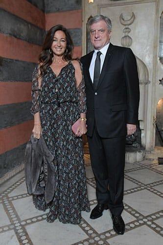 Sidney Toledano, Président directeur général de Dior et son épouse Katia.