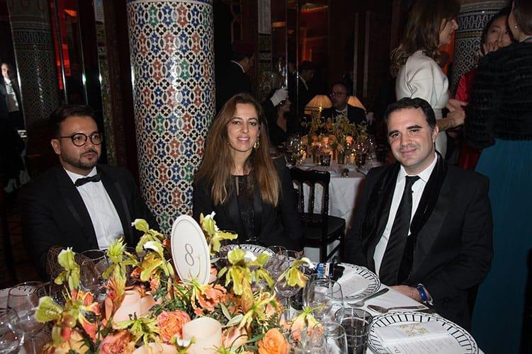 Le promoteur immobilier Fouad Falaki, Dalal Fassi-Fihri de Capricorn One et son époux Mehdi Berbich de Ascent Capital Partners.