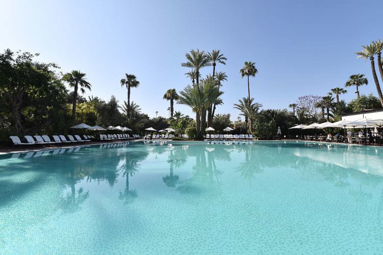 les cinq plus belles piscines de marrakech. Black Bedroom Furniture Sets. Home Design Ideas