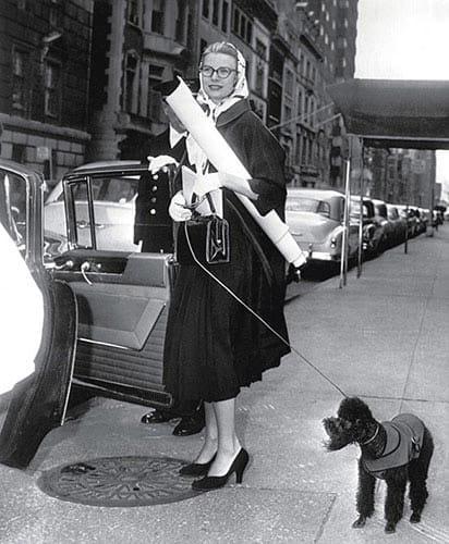 Grace Kelly et son foulard Hermès.