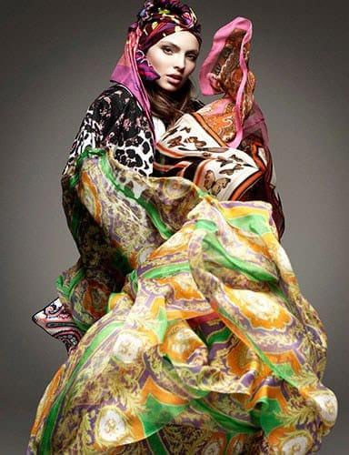 Le foulard pour Vogue Germany, janvier 2012.